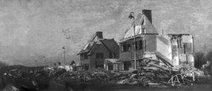 Savornin Lohmanlaan, demolition of houses between Evert Wijtemaweg and Sportlaan