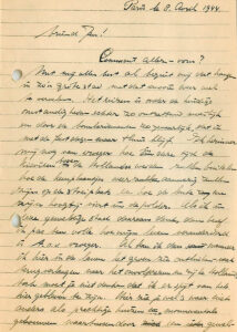 Cryptic letter from Paris, April 4, 1944